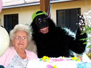 mom and gorilla