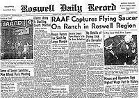 Roswell NM UFO Headline