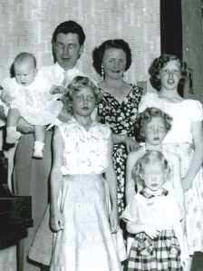 Mom & Dad with All Five Girls, 1955