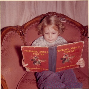 Me about 5 Reading in My Favorite Chair--Still A Great Place for Reading