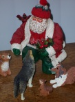 Santa & Animals Close