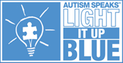 light it up blue logo