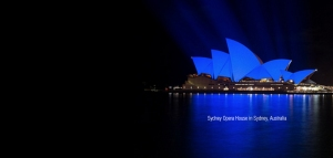 light it up blue sydney opera house