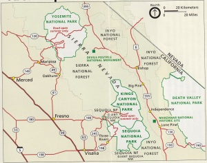 Map from National Park Brochure