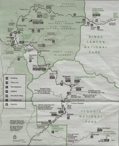 Map of Sequoia & Kings Canyon in Park Newspaper