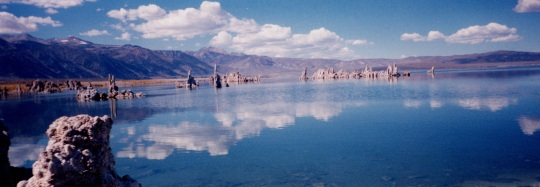 Mono reflections Dad panorama