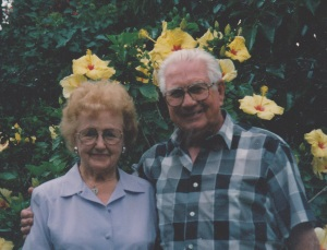 Mom and Dad yellow flowers