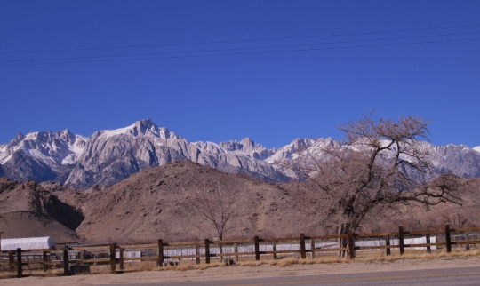 Eastern Sierra Nevada as Seen from Lone Pine, California