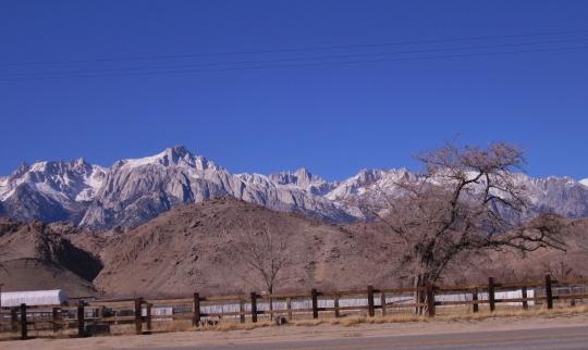Eastern Sierra Nevada as Seen from Lone Pine, California
