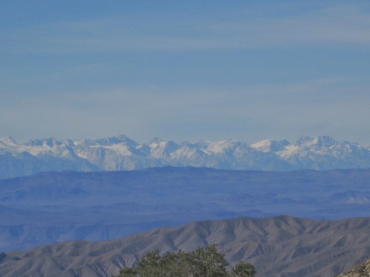 Distant View of Sierras from Road Leaving Kilns