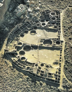 Aerial View of Pueblo Bonito from Site Booklet