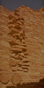 chaco pueblo bonito beams and wall corner