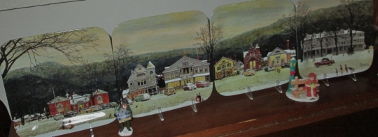 Norman Rockwell Christmas Village Plates and Some People from Mom's Village