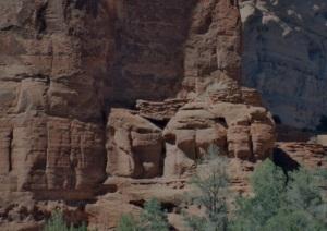 Base of Spider Rock Looks Like a Hogan
