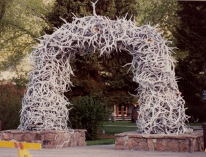 Elk Antler Arch in Jackson Town Square