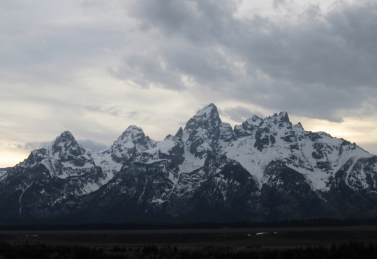 Middle Teton, Lower Saddle, Grand Teton, Gunsight Notch, Mt. Owen, Teewinot