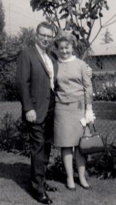 Mom and Dad back yard