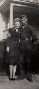 Mom with Dad in uniform