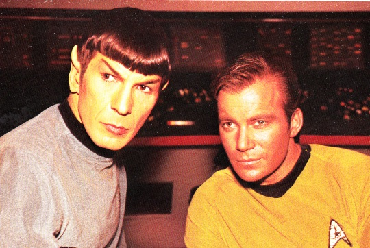 Kirk & Spock, from The Star Trek Compendium Cover